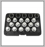 H.C.B-K2288 VAUXHALL/OPEL WHEEL LOCK SCREW SOCKET KIT (20 PCS)