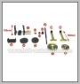 BMW (E39) SEDAN AND WAGON REAR SUSPENSION BUSH EXTRACTOR/ INSTALLER KIT