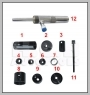 H.C.B-A7002 HONDA LOWER CONTROL ARM BUSHES REMOVER / INSTALLER (HYDRAULIC DR